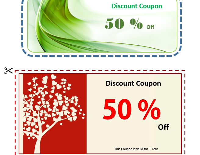Discount Coupon Voucher Template