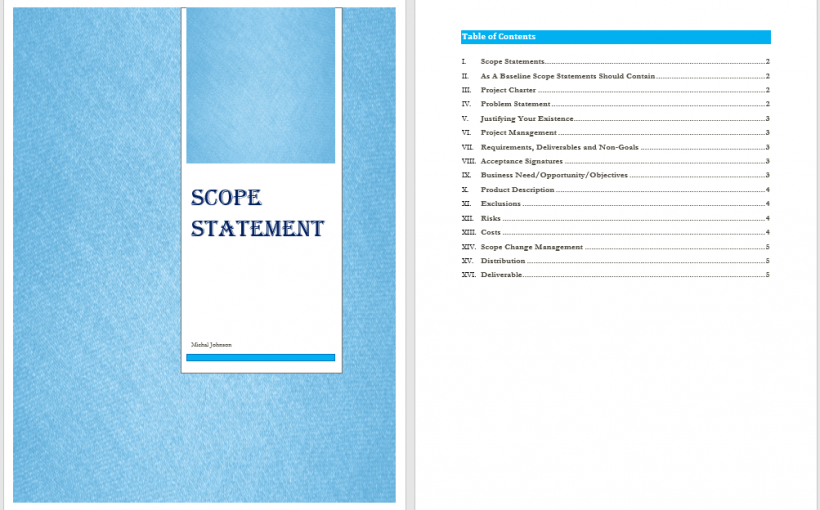 Scope Statement Template