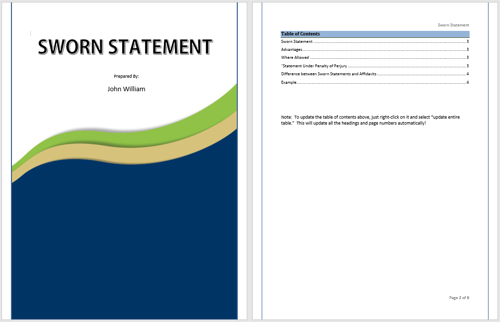16+ Free Sworn Statement Templates - MS Office Documents