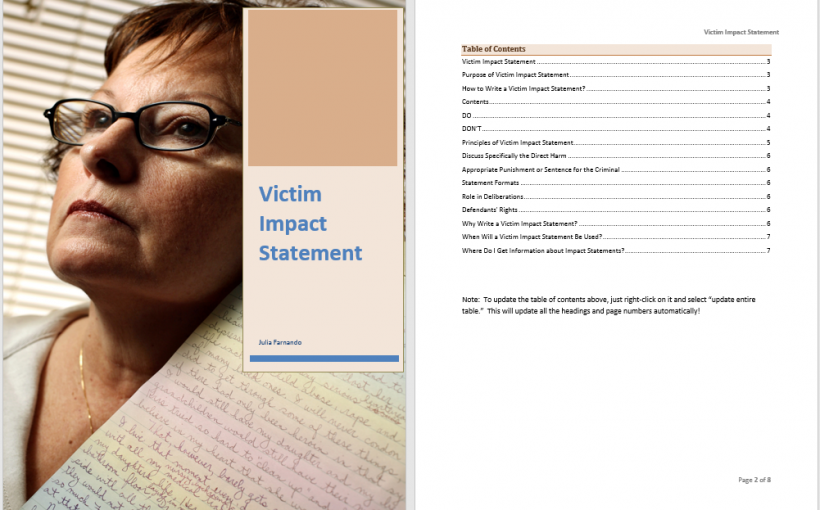 Victim Impact Statement Template