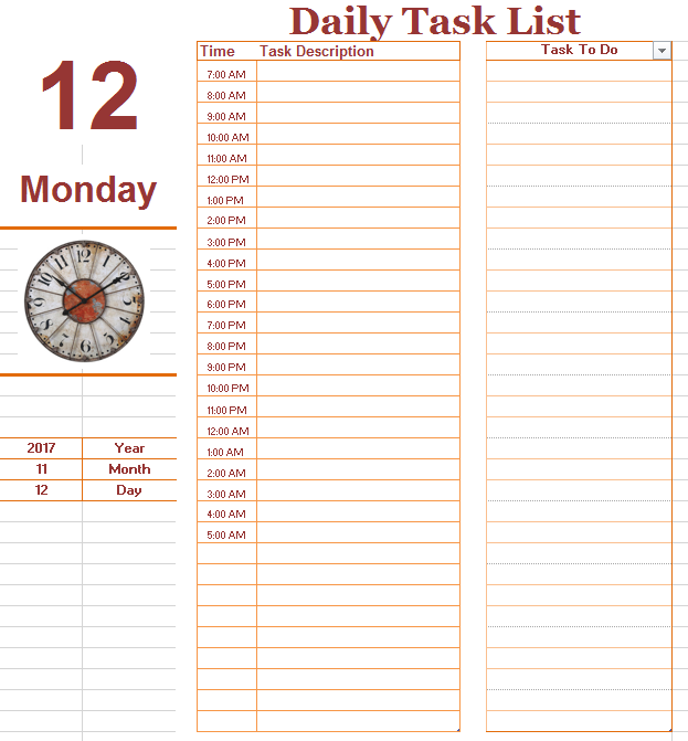 19  free daily to do list templates