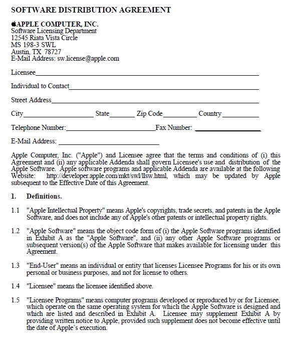 15+ Free Distribution Agreement Templates for Software and ...