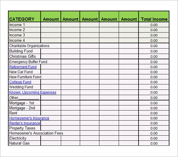 26  free bi-weekly budget templates