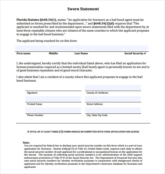 16+ Free Sworn Statement Templates - MS Office Doents Certified Letter Of Residents Template For Word on template for certified mail, template for summons, template for question, template for fax, format for certified letter, template for email,