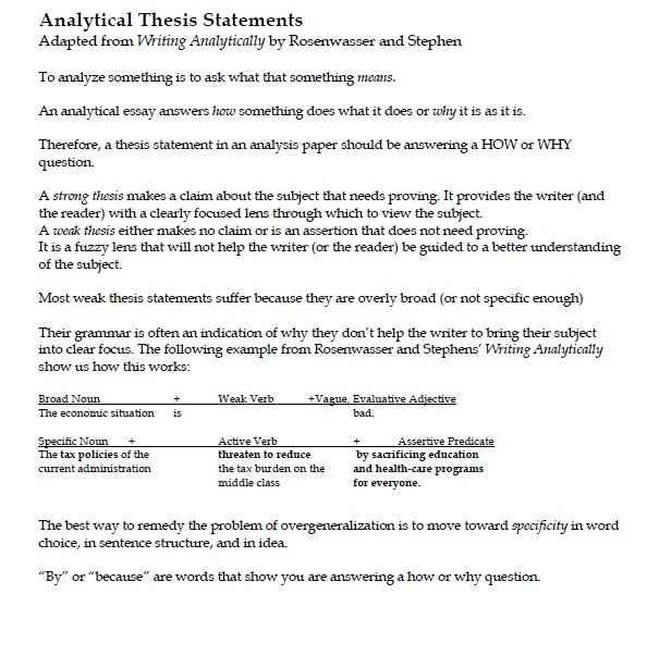 Report recommendations and conclusions and generalizations