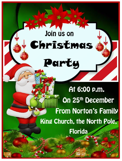 15 Free Christmas Party Invitation Templates Ms Office Documents