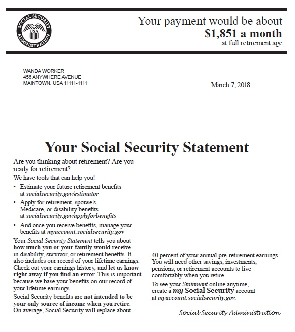 15+ Free Social Security Statement Templates Social Security Award Letter Template on military award letter template, pension award letter template, 2014 ssa award letter template, social security benefit letter,