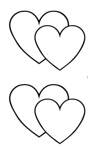 Printable Heart Shape Template 07