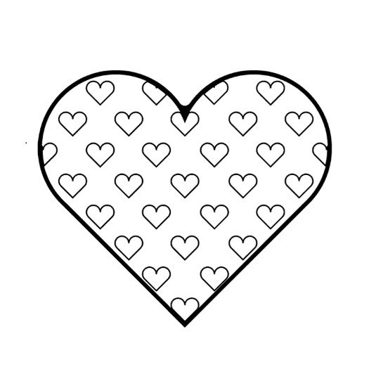 Printable Heart Shape Template 08