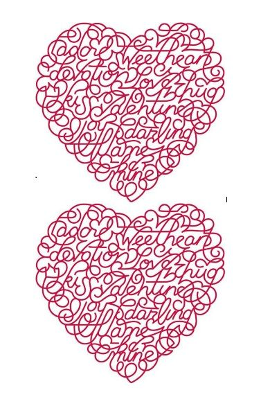 Printable Heart Shape Template 13