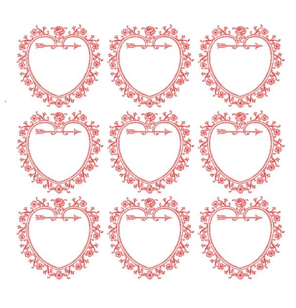 Printable Heart Shape Template 19