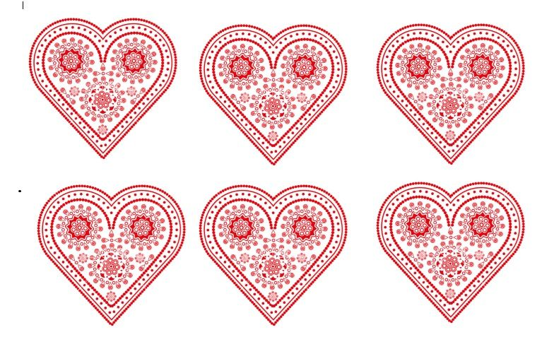 Printable Heart Shape Template 21