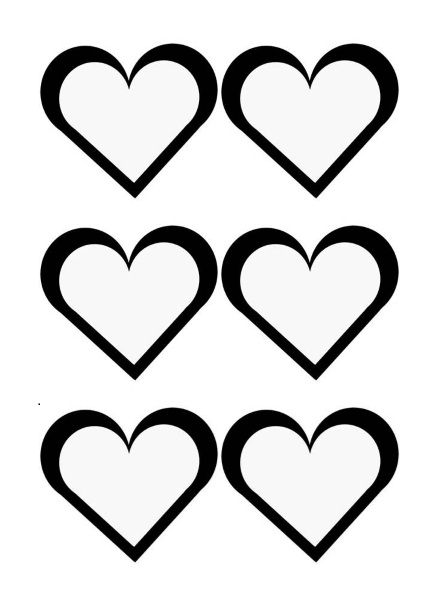 Printable Heart Shape Template 24