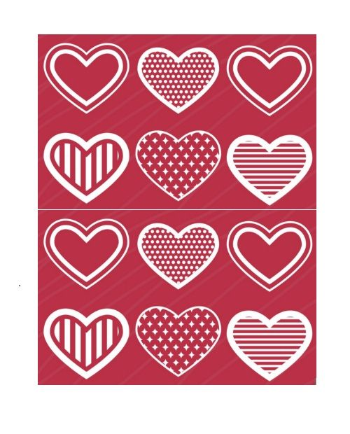 Printable Heart Shape Template 25