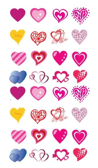 Printable Heart Shape Template 28