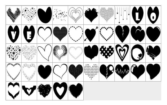 Printable Heart Shape Template 30