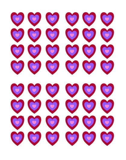 Printable Heart Shape Template 32