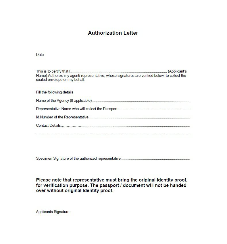 Sample Authorization Letter 01