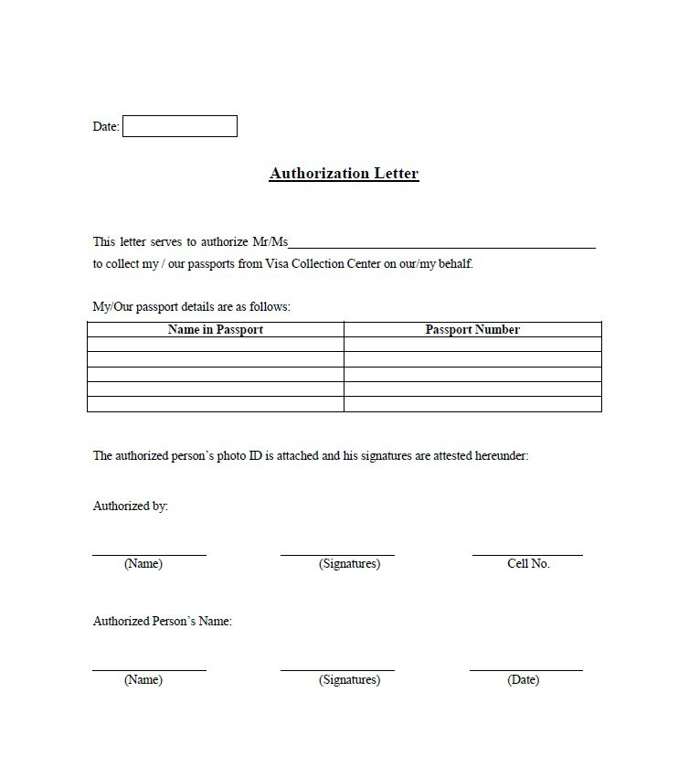 Sample Authorization Letter 06