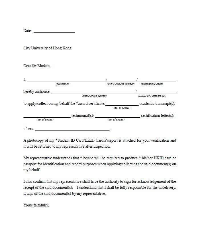 Sample Authorization Letter 09