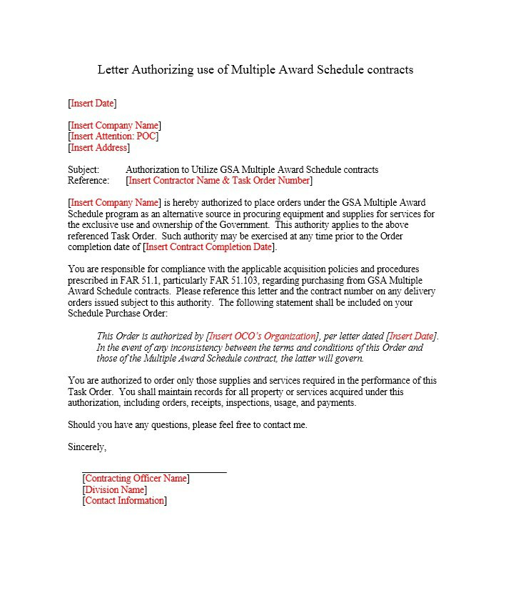 Sample Authorization Letter 12
