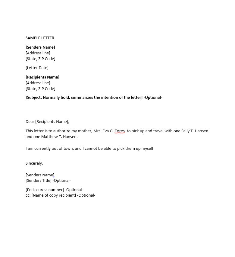 Sample Authorization Letter 21