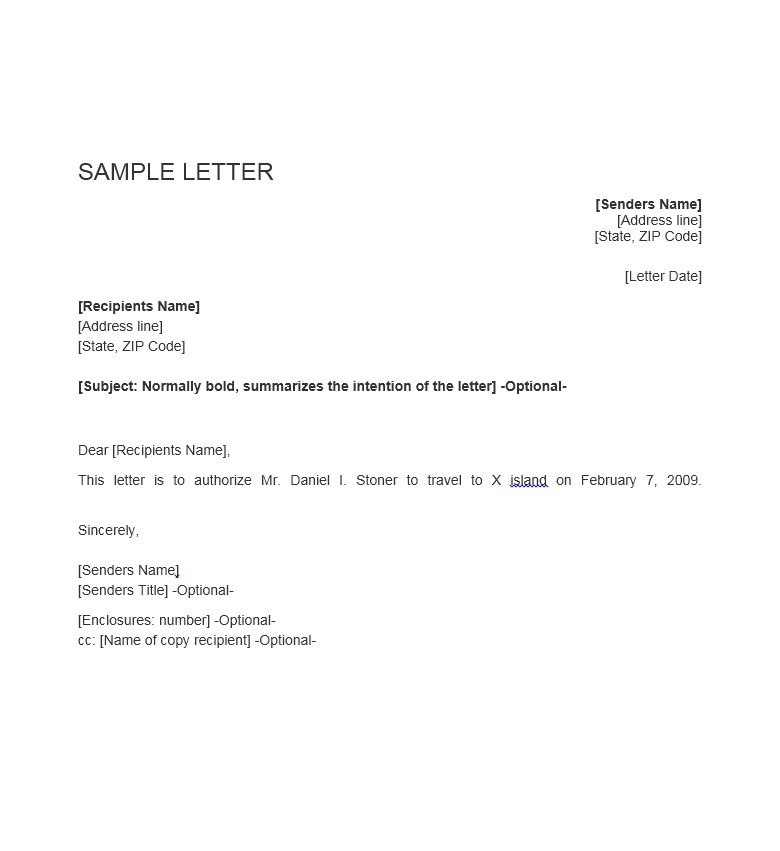 Sample Authorization Letter 22