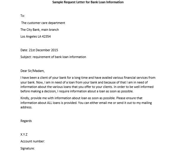 Sample Request Letter