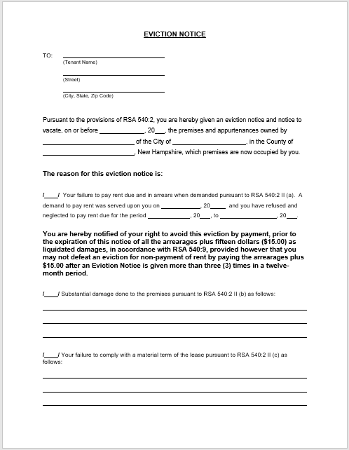 It's just a picture of Free Printable 30 Day Eviction Notice Template pertaining to tennessee form