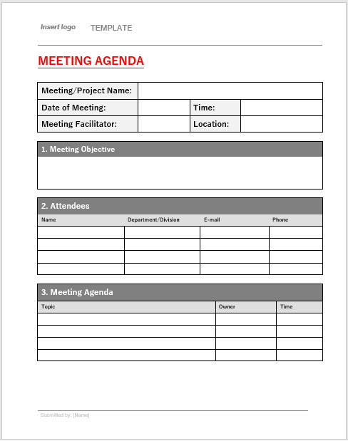 Meeting Minutes Template 001