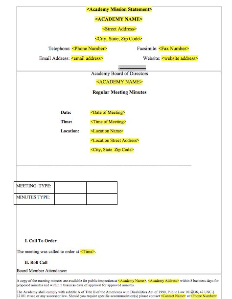 Meeting Minutes Template 017