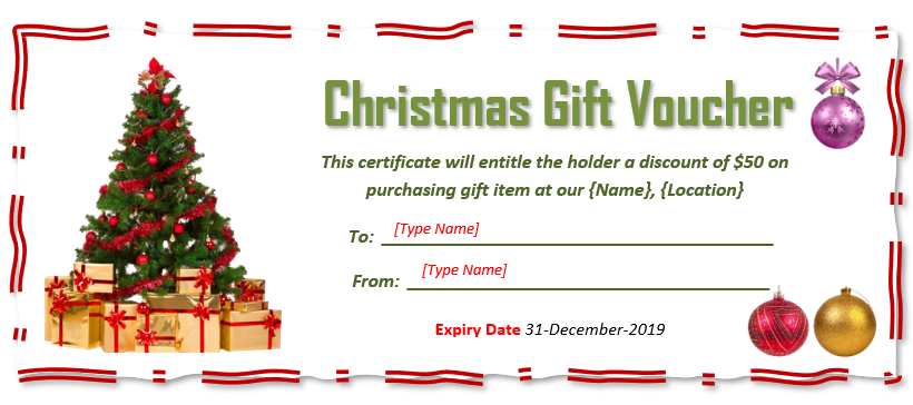 Christmas Gift Certificate Template 02