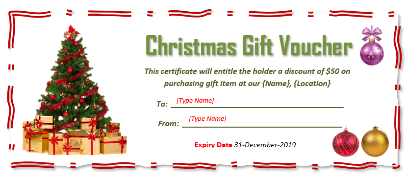 9 Free Christmas Gift Certificate Templates Using Ms Word