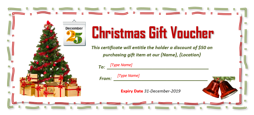Christmas Gift Certificate Template 03