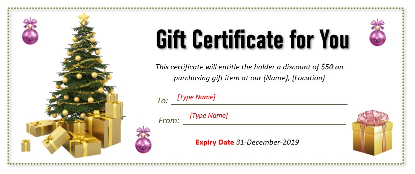 Christmas Gift Certificate Template 05