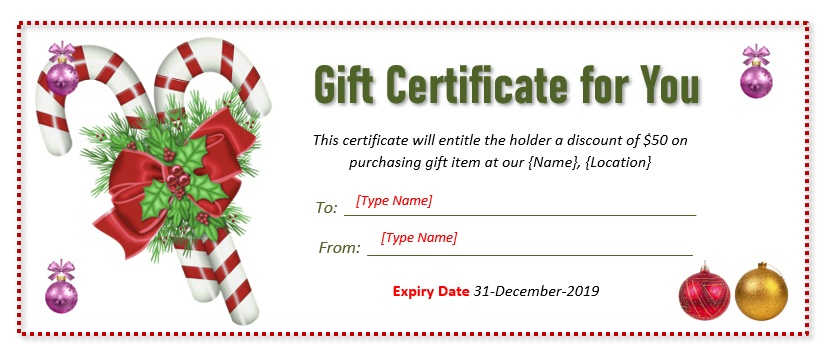 Christmas Gift Certificate Template 06