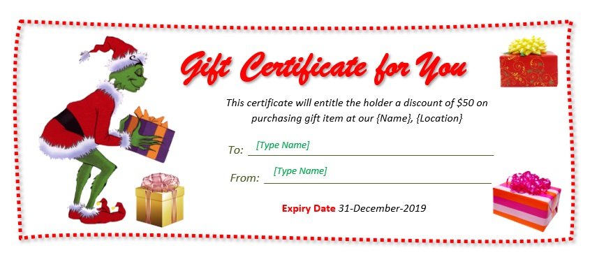 Christmas Gift Certificate Template 07