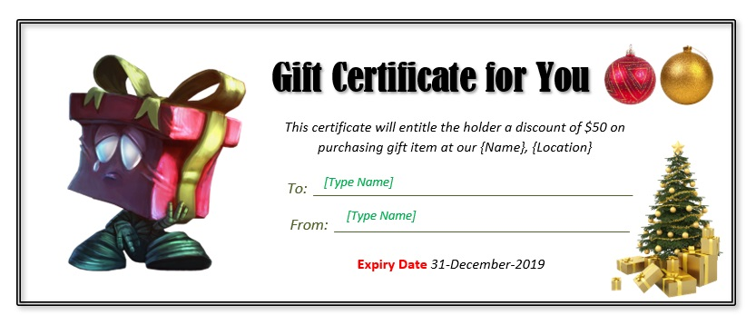 Christmas Gift Certificate Template 08