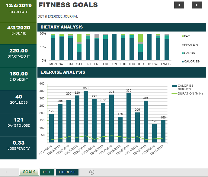 Fitness Schedule Template 01
