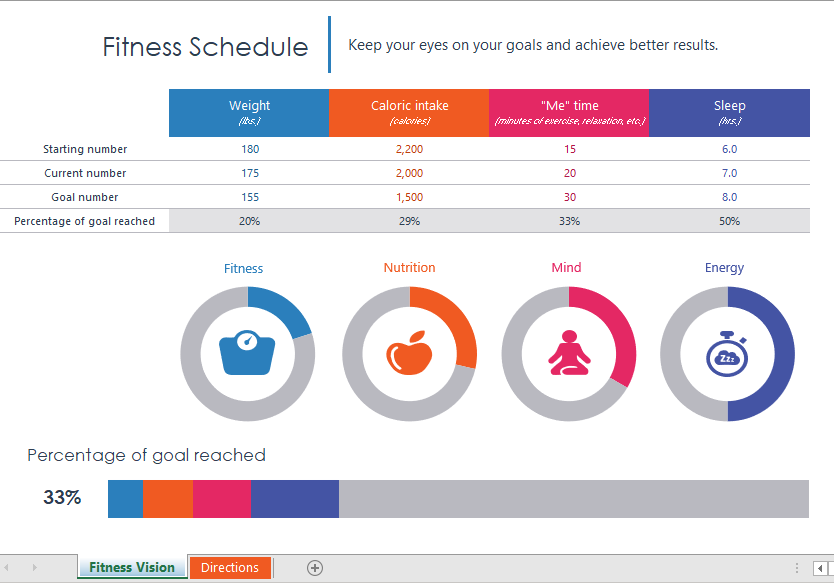 Fitness Schedule Template 02