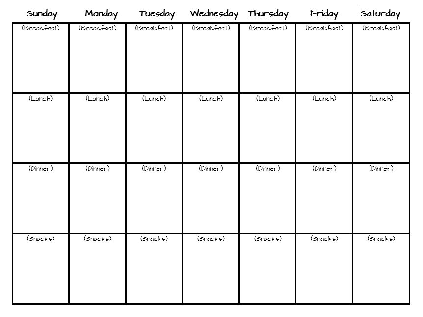 Meal Planner Template 01