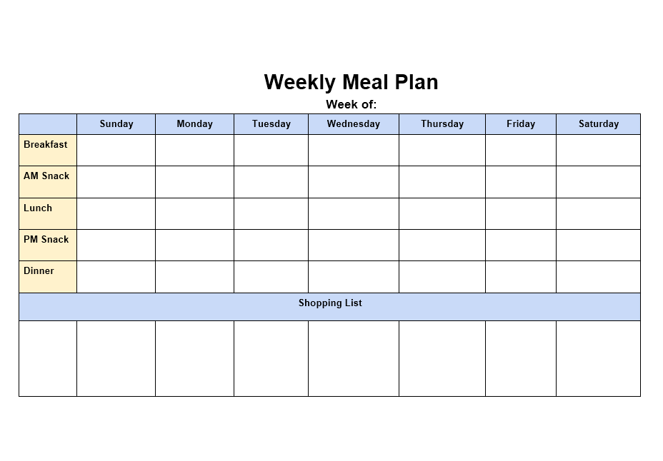 Meal Planner Template 05