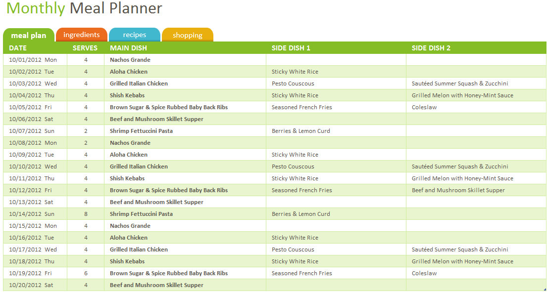 Meal Planner Template 06