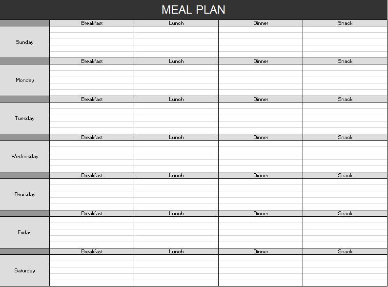 Meal Planner Template 10
