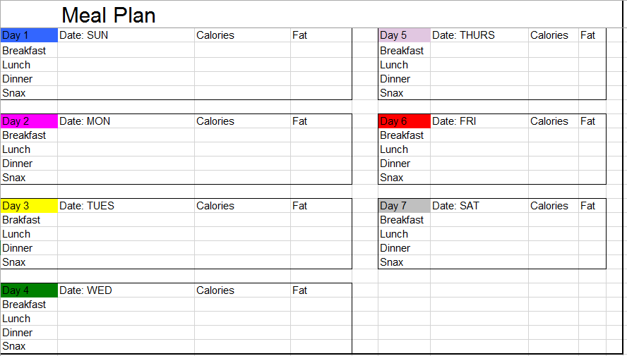 Meal Planner Template 11