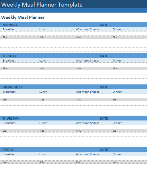 Meal Planner Template 12