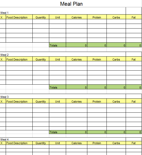 Meal Planner Template 13