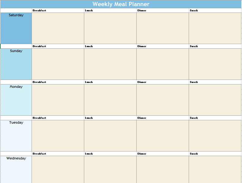 Meal Planner Template 14