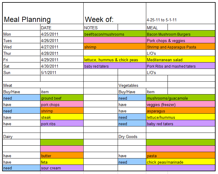 Meal Planner Template 19