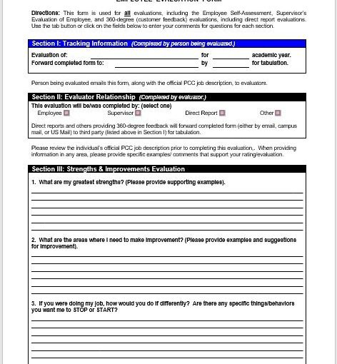 Employee Evaluation Form 04